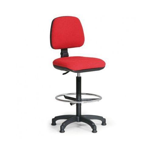 Podwyższone krzesło biurowe MILANO z podnóżkiem - czerwone