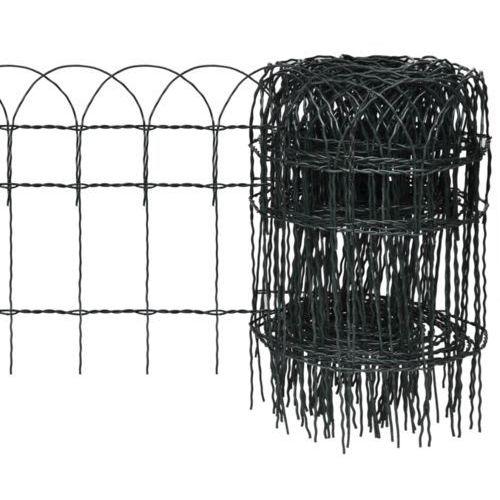 vidaXL Rozwijane ogrodzenie trawnikowe 25 x 0,4 m (przęsło i element ogrodzenia)