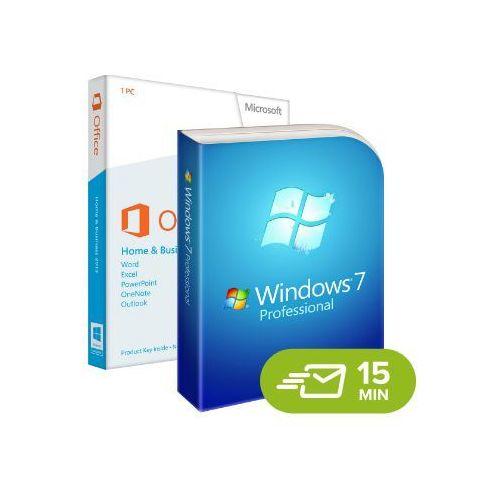 Windows 7 professional + office 2013 home and business 32/64 bit marki Microsoft