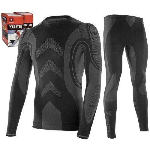 Bielizna termoaktywna WEBSTER męska XL czarna (koszulka+spodnie) (5907437535981)