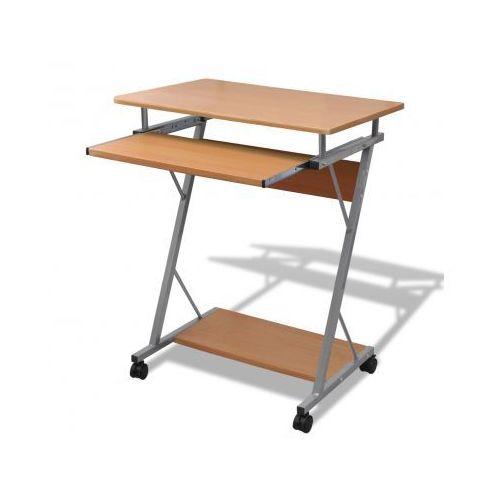 Biurko komputerowe z ruchomą podstawką na klawiaturę (Brązowe) - sprawdź w VidaXL