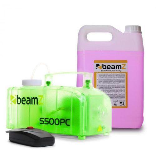 Beamz S500pc wytwornica mgły z 5 l fluidu do wytwarzania mgły diody led rgb 500 w przezroczysta