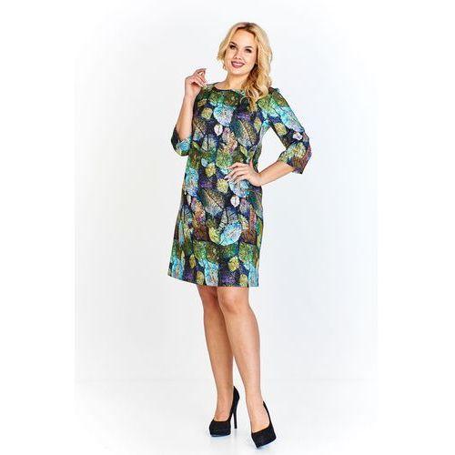 51b04da67 Sukienka z gładkiego czarnego materiału delikatnie przypominającego... » ELEGANCKA  sukienka 2w1 KWIATY polski producent 48
