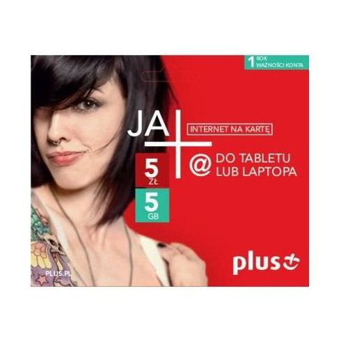 ja+ 5zł / 5gb - internet na kartę - produkt w magazynie - szybka wysyłka! marki Plus