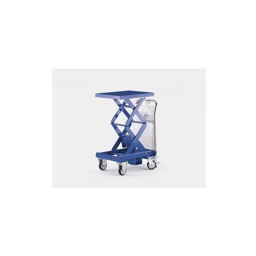 Dwunożycowy podnośny wózek stołowy, niebieski gencjanowy,nośność 350 kg
