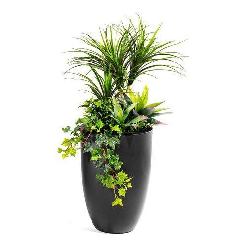 Kompozycja roślinna z donicą, czarny marki Aj produkty
