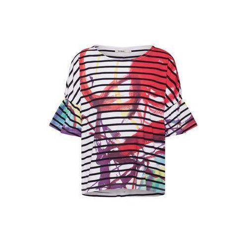 Desigual koszulka 'ts_nottingham' mieszane kolory / czerwony / biały