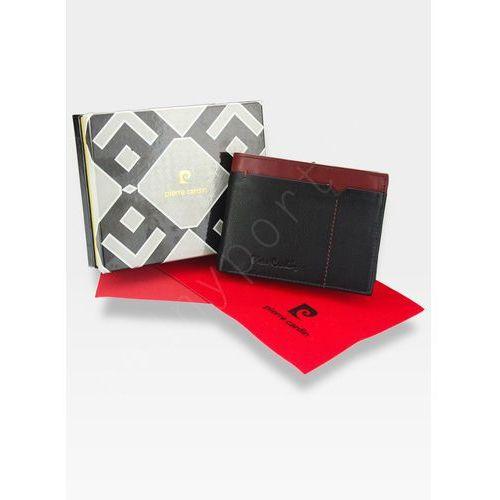 016b05e82f73e Pierre cardin Modny portfel męski oryginalny skórzany tilak14 8806 rfid -  czarny + czerwony 91