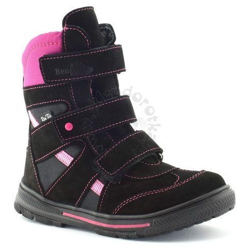 44afed9641fc7 ... Śniegowce dla dzieci z membraną Renbut 32-4142 - Czarny   Fuksja 259,90  zł Najwyższej jakości dziewczęce obuwie zimowe produkowane z naturalnej  skóry z ...