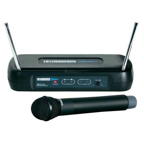 Mikrofon bezprzewodowy, ręczny, Mc Crypt, zestaw z odbiornikiem, LDWSECO2HHD1