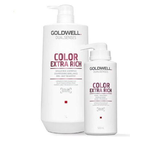 color extra rich zestaw do włosów farbowanych   szampon 1000ml, maska 500ml marki Goldwell