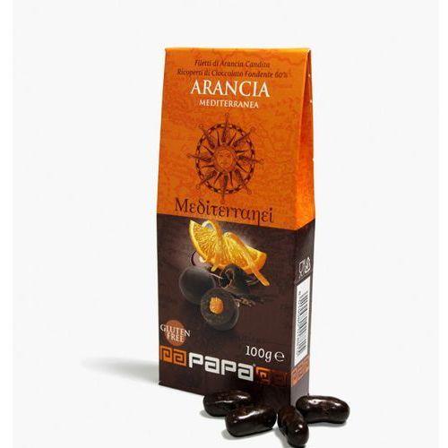 mediterranei pomarańcza w gorkiej czekoladzie 60% criollo 100 g marki Papa