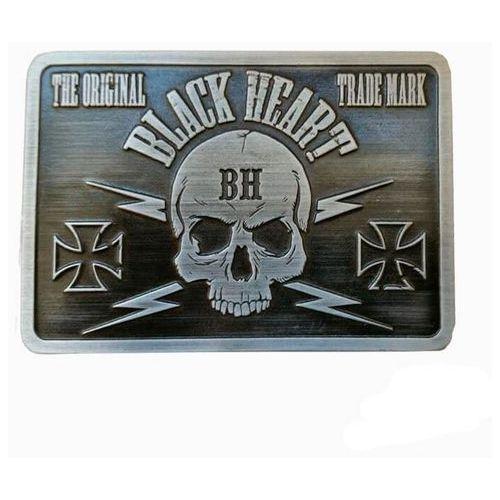 Blackheart Klamra do paska black heart bastard skull buckle, srebrny (8596084079459)