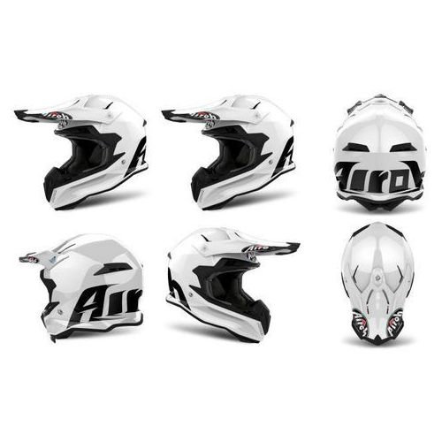 Airoh Kask terminator open vision color white gloss