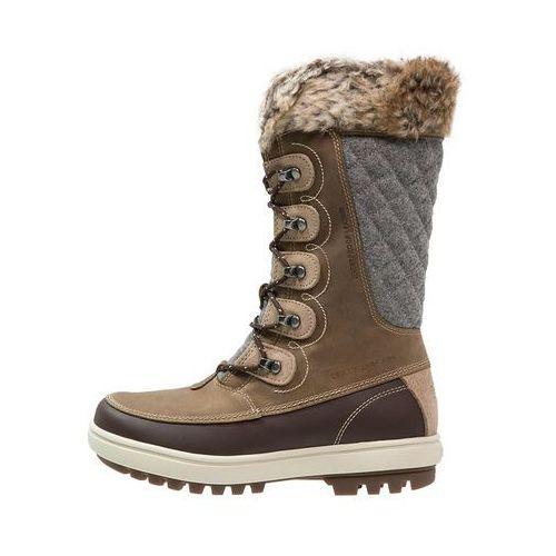 Helly Hansen GARIBALDI Śniegowce camel/coffe bean/natura/khaki, kolor brązowy