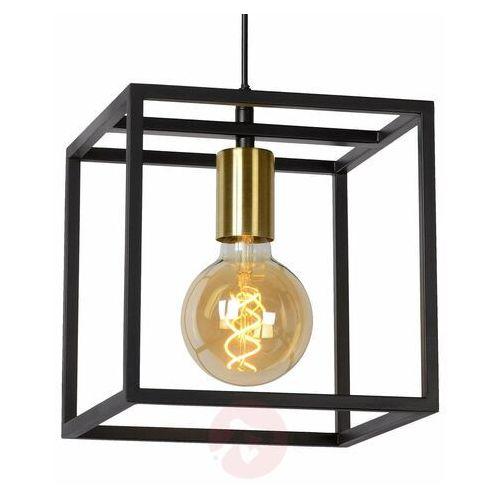 Lucide ruben 00424/01/30 lampa wisząca zwis oprawa 1x40w e27 czarny/satynowy mosiądz (5411212000156)
