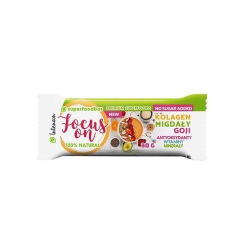 Intenson focus on z migdałami, kolagenem i owocami goji 30g baton (5902150284062)