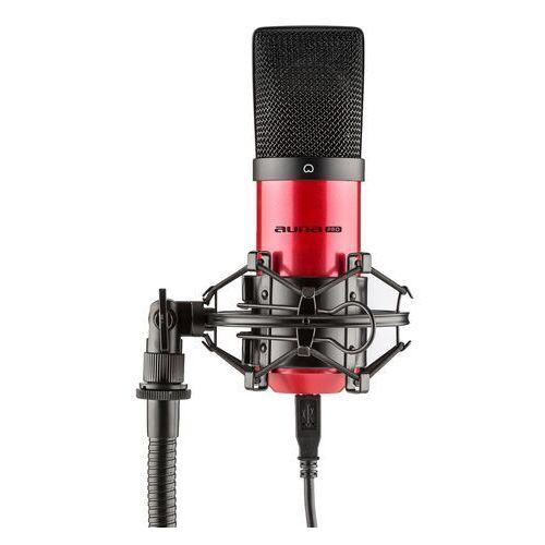 Auna Pro MIC-900-RD USB Mikrofon pojemnościowyczerwony Charakterystyka kardioidalna studyjny (4260457486321)