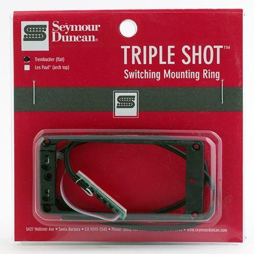 sts 1s blk triple shot, switching mounting ring set, flat/trembucker - black marki Seymour duncan