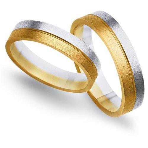 Obrączki ślubne z żółtego i białego złota 4mm - O2K/098