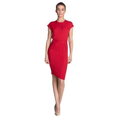 Sukienka ołówkowa - czerwony - s115, Nife