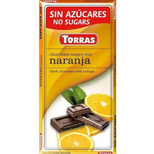 Torras Czekolada gorzka z pomarańczą, bez cukru, bezglutenowa 75g