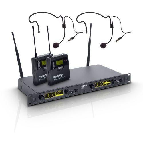 win 42 bph 2 b 5 mikrofon bezprzewodowy nagłowny, podwójny marki Ld systems