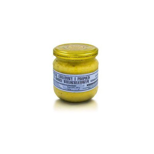 Miód wielokwiatowy z pyłkiem i propolisem 260 g marki Pasieka z pasją hawran paweł
