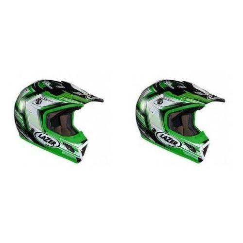 Lazer Kask mot. mx7 evo space runner biały/zielony