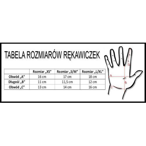 Accent Rękawiczki dziecięce daisy biało-różowe s/m