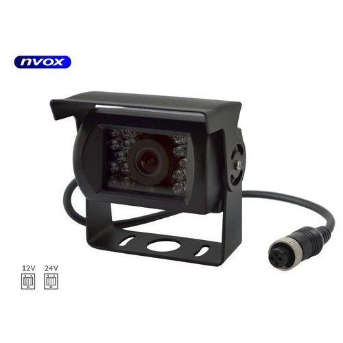 Nvox Samochodowa kamera cofania 4pin ccd sharp w metalowej obudowie 12v 24v (5909182424268)