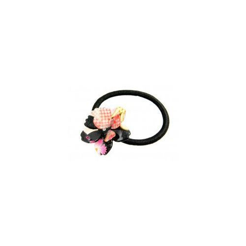 Gumka do włosów - czarny kwiat