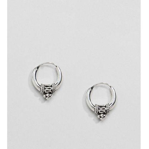 Kingsley Ryan Sterling Silver Chunky Ornate Hoop Earrings - Silver