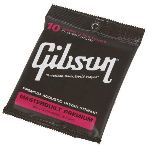 sag-brs10 masterbulit premium 80/20 struny do gitary akustycznej 10-47 marki Gibson