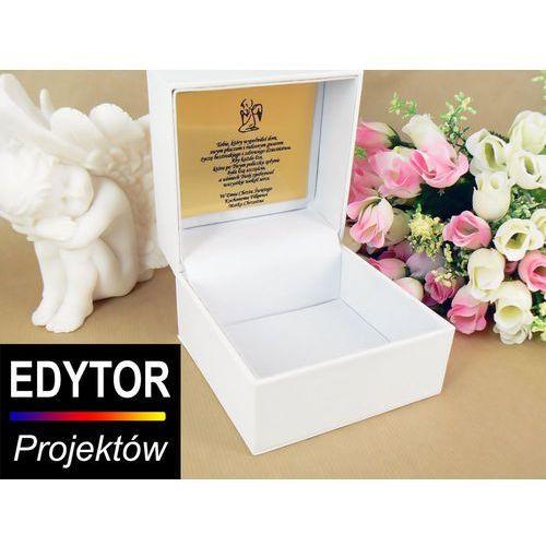Pudełko etui dedykacja zdjęcie eko-skóra grawer marki Aleupominek.pl