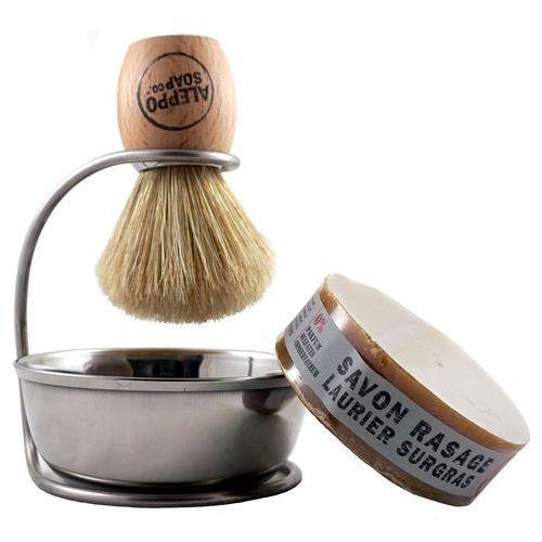 Aleppo soap - kompaktowy zestaw do golenia z mydłem laurowym (3593290024971)
