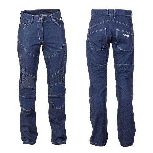 Spodnie motocyklowe damskie jeansowe z kevlarem nf-2990, ciemny niebieski, s marki W-tec