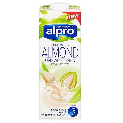 Napój migdałowy bez dodatku cukru z nieprażonych migdałów Alpro 1L (5411188122661)