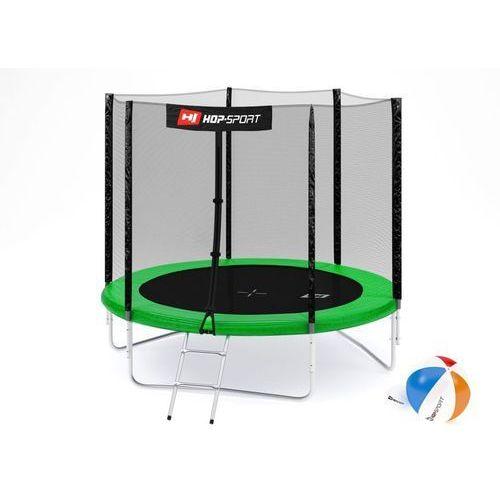 Hop-sport Trampolina 8ft (244cm) z siatką zewnętrzną - 3 nogi - zielony \ 8ft (244cm) (5902308210424)