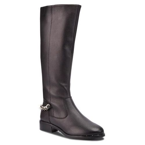 Steve madden Oficerki - rain boot sm11000180-03001-017 black leather