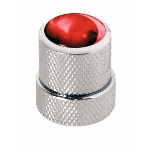 war-30518-cr-red-cap st knopf, rund 4-6mm, rt kap cr st knob, round 4-6mm, rd cap cr, gałka potencjometru marki Warwick