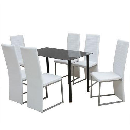 zestaw mebli do jadalni 7 elementów biały i czarny od producenta Vidaxl
