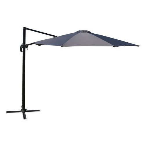 Home&garden Parasol ogrodowy roma black / grey 330 cm z podstawą (5902425324738)