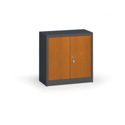 Alfa 3 Szafy spawane z laminowanymi drzwiami, 800 x 800 x 400 mm, ral 7016/czereśnia