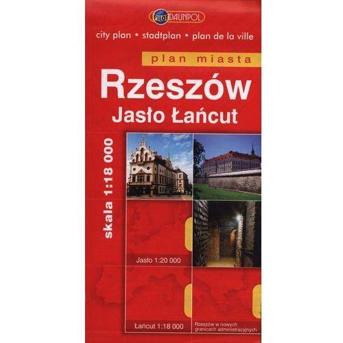 Rzeszów Jasło Łańcut plan miasta 1:18 000, praca zbiorowa