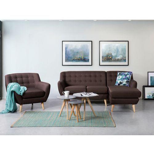 Sofa czekoladowa - kanapa - tapicerowana - narożnik - MOTALA