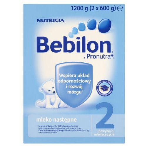 Nutricia polska sp. z o.o. Bebilon 2 z pronutra+ prosz. - 1200 g