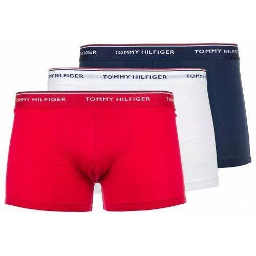Bokserki Underwear Tommy Hilfiger 3-Pack Białe Granatowe Czerwone, kolor niebieski