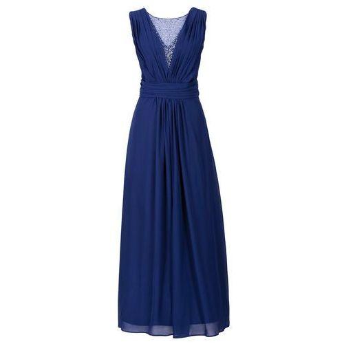 Długa sukienka bonprix kobaltowy