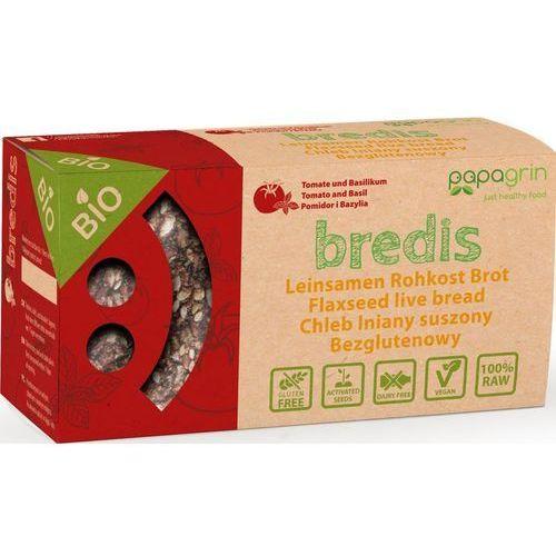 Chleb lniany suszony z pomidorami i bazylią bezglutenowy BIO 70 g - PAPAGRIN, 5903240250158